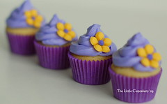 Purple Mini's (TheLittleCupcakery) Tags: birthday pink tiara yellow cake purple princess little blossom mini crown anya tlc fondant cupcakery xirj klairescupcakes