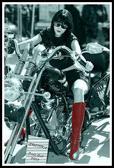 Erotika (Jordi Coll) Tags: red portrait bw woman girl bike erotika reflexes aplusphoto jordicoll photographersworldbestfriends