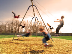 On the Swings (believer9) Tags: park motion blur playground kids action swings goldstaraward littlestoriespicswithsoul