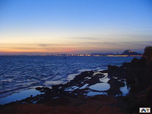 Atardecer en la Cala Cantalar en el Cabo de las Huertas