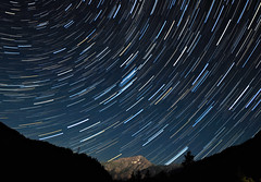 Trailing Above North Cascades National Park in a Meteor Shower (Fort Photo) Tags: longexposure sky night stars landscape shower star washington nikon nightscape searchthebest state nps north trails science cascades wa astronomy stacking np streaks 2009 meteor stacked afterdark meteors d300 northcascadesnationalpark shootingstar 421 naturesfinest perseid perseids wtmwgroupiconwinner