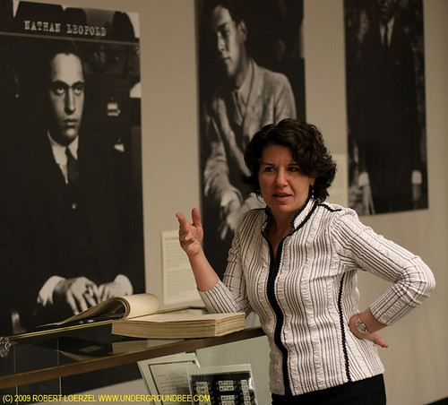 Leopold and Loeb exhibit at Northwestern University Library, March-April 2009. Curator Nina Barrett discusses the exhibit, with pictures of Nathan Leopold,