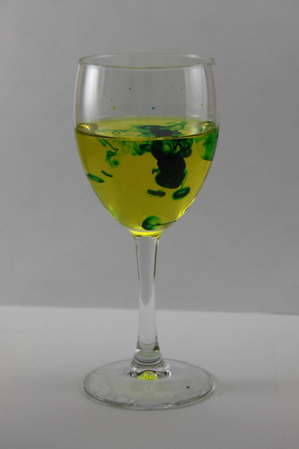 Wine Glass Yellow and Blue