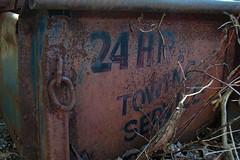 Hand Painted (Mr Perry) Tags: abandoned rust rusty oxidation handpaintedsigns pentaxk10d justpentax springwatertownship pickuptruckbox