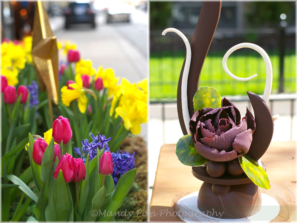 spring chocolate showpiece