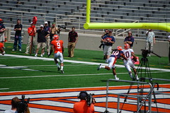 the qb's were playing two hand touch (Johnny Heger) Tags: college campus illinois spring universityofillinois urbana champaign uofi chipsi