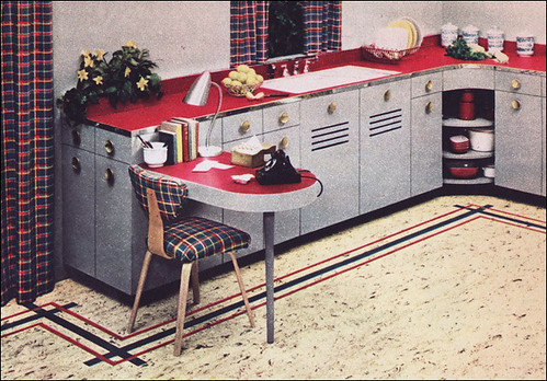 1950s Kitchen Design - Nairn Linoleum - a photo on Flickriver