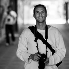 Dapper Dan (Julien Ratel ( Jll Jnsson )) Tags: light portrait bw canon square dof bokeh meeting nb pdc carr rencontre 85mmf18 eos40d julienratel julienratelphotography carrfranais sebbram ivanlukasevic dbx60 dbx300
