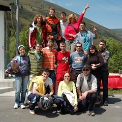 Participantes en la carrera de karts de Cibuyo