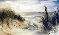 Strand (Galerie-Gensert) Tags: strand meer wasser acryl dünen