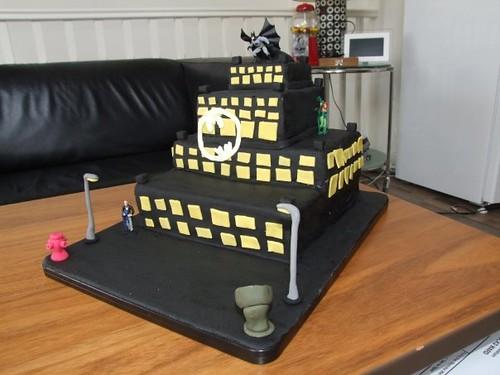 gotham city batcake