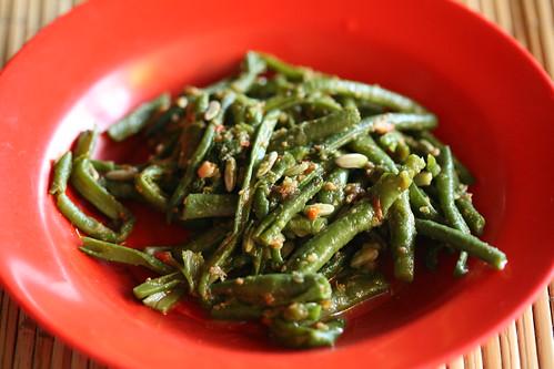 Warung Merta Sari- spicy string beans