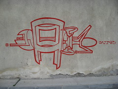 red bug on the wall (kombi N atista) Tags: red sk graff murale skopje jazz83 skopjegraffiti
