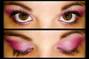 Pinked (Lady Pandacat) Tags: pink portrait macro eye self diptych shiny colorful bright shimmery makeup vivid mexican yeartwo hispanic latina sparkly 2009 fantabulous catchycolorspink pandacat canong9 pandacatbaby tinaangel wwwcoastalscentscom coastalscents88shimmerpalette yeahiknowimpale makeupmacro coastalscentspalette ladypandacatvonnopants