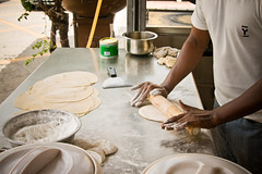 Making a roti canai 1 (by Christ tell)