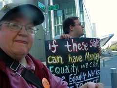 Protesting for marriage equality, 26 May 2009