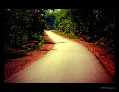 Way To Heaven ! (shri :)) Tags: road light shadow sun sunlight india art canon way landscape photography eos sand flickr mud redsand sigma journey greenery karnataka yana artphotography sigma70300 sigma70300apodgmacro 450d canon450d shrikanthsy