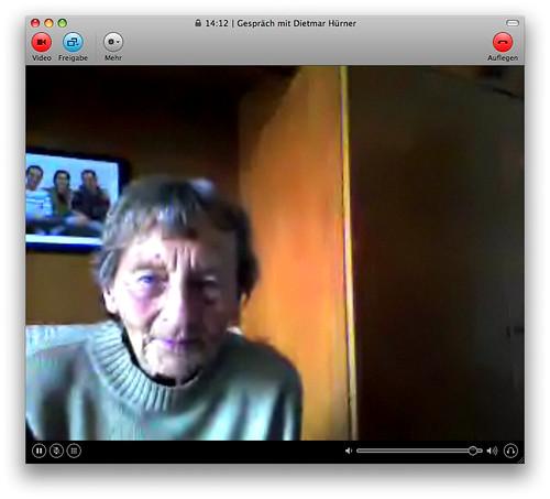 Skypen mit der Omi
