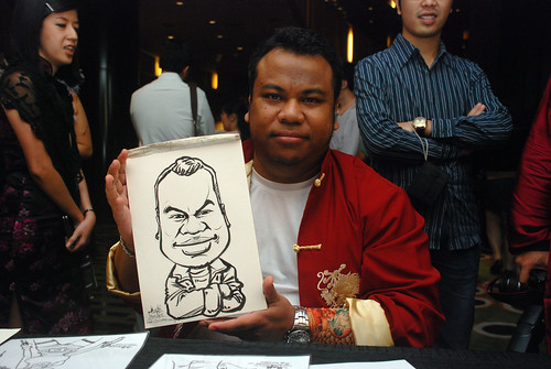 Caricature live sketching for CPGairport D&D - 8