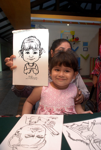 Caricature live sketching for Costa Sands Resort Pasir Ris Day 1 - 8