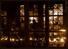 Prayer Lamps (manumint-[BUSY]) Tags: india temple prayer buddhism tibet himachal dharamsala mcleodganj ommanipadmehum oillamps himachalpardesh tsuglagkhangtemple closedroom spiritualatmosphere