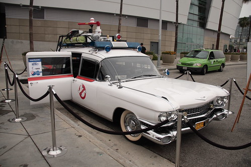 Ecto 1, parked outside of E3 (click to enlarge).