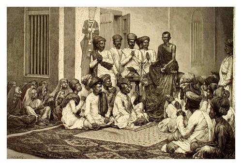 008-Sermon religioso en Bombay-La India en palabras e imágenes 1880-1881- © Universitätsbibliothek Heidelberg