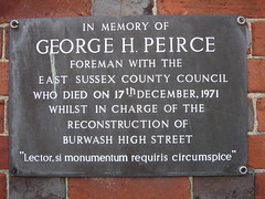 Photo of George H. Peirce grey plaque