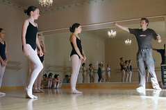 Ballet class 3 (Roving I) Tags: girls newzealand ballet reflections children dance russia culture mirrors auckland chandeliers personalities schools lessons leotards