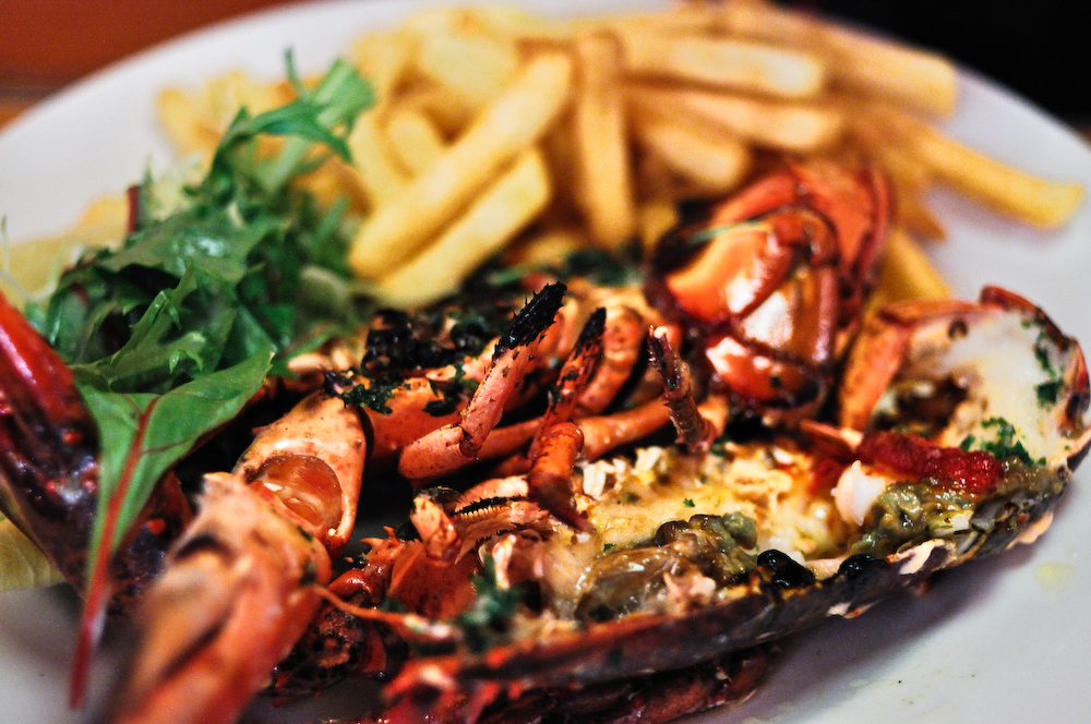 Belgo grilled whole lobster