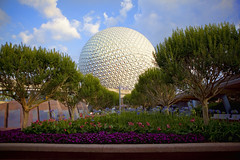 Spaceship Earth (Todd Hurley (Todd_H)) Tags: epcot florida waltdisneyworld spaceshipearth flowergardenfestival wetraveltheworld 5stardisneyaward
