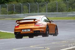 Porsche 997 GT2 on the Nordschleife (Martijn Kapper) Tags: auto car sport race gold track metallic sony porsche nordic alpha circuit martijn gt2 a100 997 nordschleife kapper nrburg sportauto autogespot
