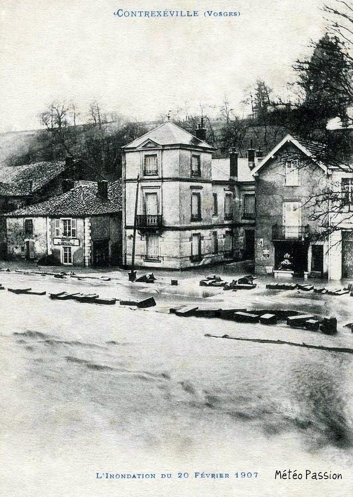 inondation à Contrexéville le 20 février 1907