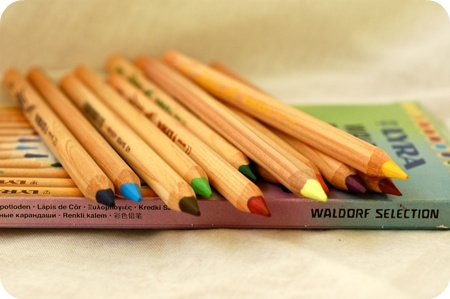 Waldorf coloured pencils