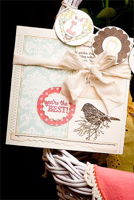 mother's day rose basket card for blog
