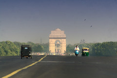 Gateway to India.. (areyarey) Tags: road old travel people india colour history tourism monument stone architecture landscape asian outdoors freedom big memorial gate asia arch place symbol fort taxi delhi indian traditional famous country transport landmark icon tourist historic national huge destination historical guards independence rickshaw hindu touristattraction attraction newdelhi centuries motocycle indiagate importance mughal areyarey