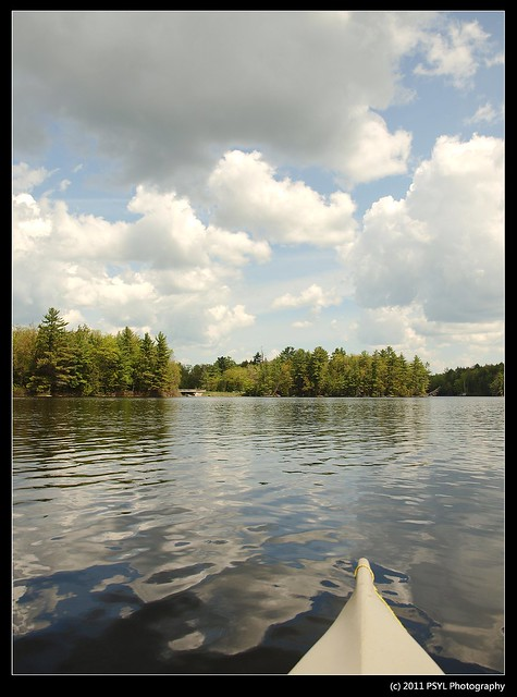Canoeing in Mississauga Lake