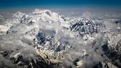 Nanga Parbat flyby (Lil [Kristen Elsby]) Tags: pakistan mountain snow mountains clouds landscape flying inflight asia flight aerial alpine pia topv4444 himalayas southasia himalayanrange nangaparbat airsafari nakedmountain gilgitbaltistan canong12