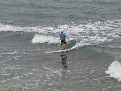 standing on a wave