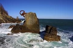 Peine del Vento - Donostia (Spain) (Vasnic64) Tags: sea sculpture mer sansebastian basque donostia vasse