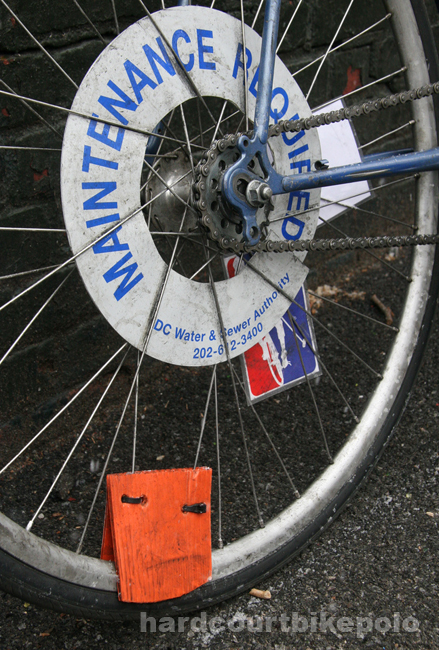 hardcourt bike polo tire valve cover