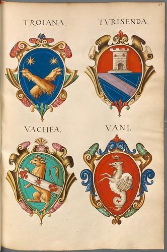 Familienwappen kleinerer Adelshäuser von Verona mit Buchstaben k