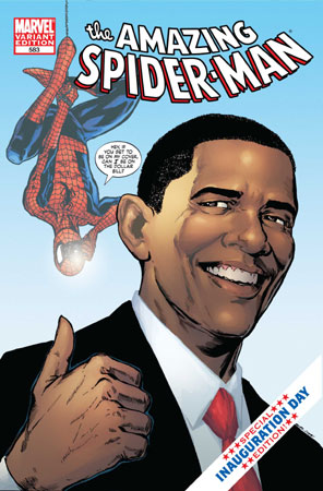 comic Spiderman Obama