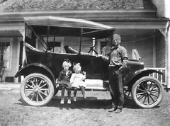 Joyce, Verna, and Archie Griffin, Dummer, New Hampshire in 1923 (JFGryphon) Tags: ford griffin modelt phaeton cooscounty 1923modelt dummernewhampshire