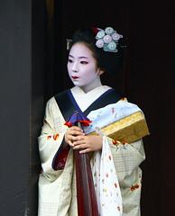Umbrellas and running water: suzuha (Tahanala) Tags: flower kyoto maiko geiko hana geisha hairpin tsumami hanamachi kanzashi hairornament hanakanzashi karyukai tsumamikanzashi