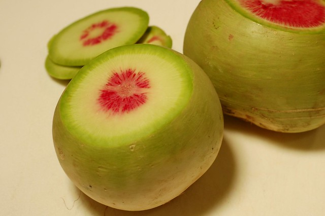 Sliced Watermelon Radish