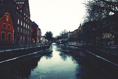 Fyrisan River (PravinNarsing) Tags: trip travel bridge vacation canon river europe sweden uppsala