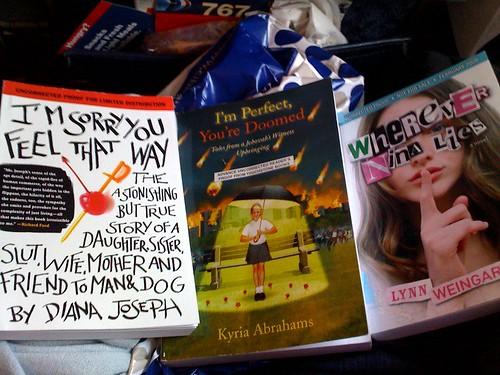 photo image of 3 books. Authors are Diana Joseph, Jyris Abrahams, Lynn Weingarten.