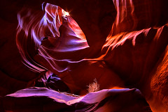 AntelopeCanyon_20081030_23 (Velvet is: Photography) Tags: light arizona orange sun southwest purple desert sony nation sigma page navajo alpha 1020mm lakehavasu sagebrush a100 slotcanyon antelopecanyon