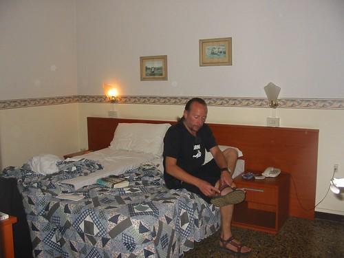 Onze kamer in Hotel Arno